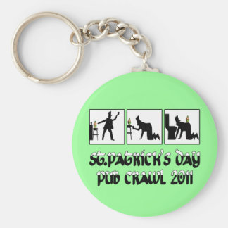 2011 Irish pub crawl Keychain
