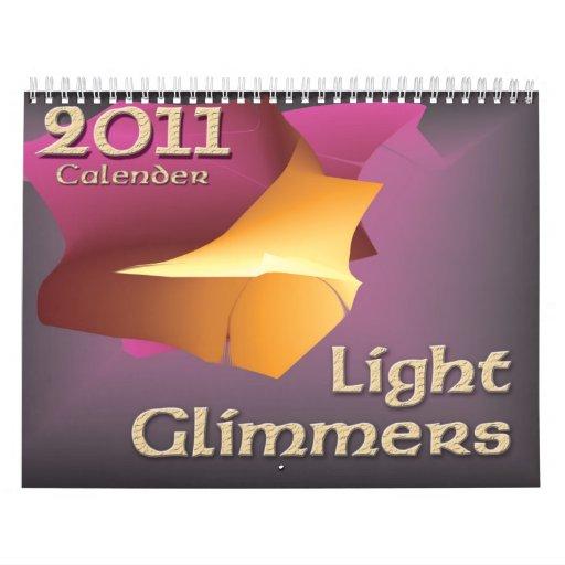 2011 luces tenues ligeras del calendario