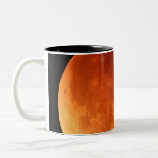 2011 Lunar eclipse frosted glass mug