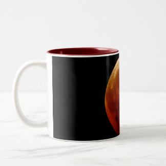 2011 Lunar eclipse red moon frosted glass mug