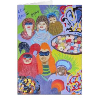2011 Mardi Gras Card