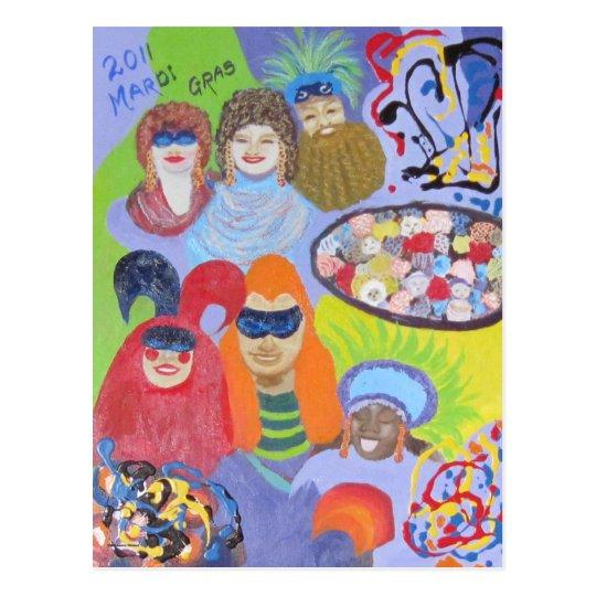 2011 Mardi Gras Postcard