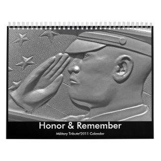 2011 Military Honor & Remember Tribute Calendar