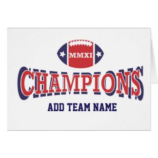 2011 MMXI Football Champions Card