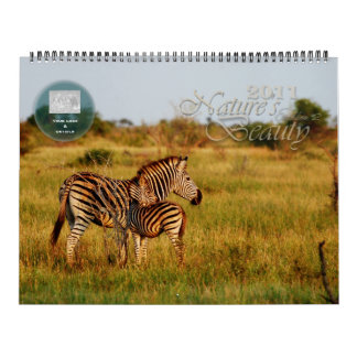 2011 Nature's Beauty customizable - huge size Calendar