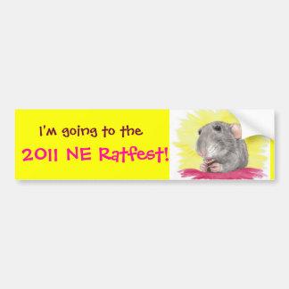 2011 NE RatFest Bumper Sticker
