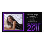 2011 Neon Purple Photo Picture Card