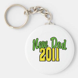 2011 New Dad Basic Round Button Keychain