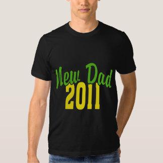 2011 New Dad Black T-Shirt