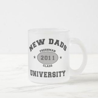 2011 New Dads Frosted Glass Coffee Mug