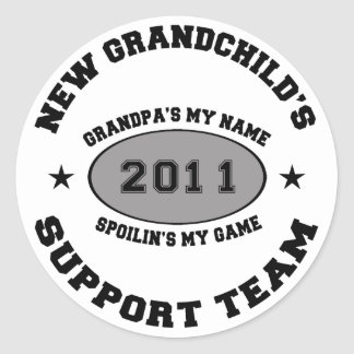 2011 New Grandchild Classic Round Sticker