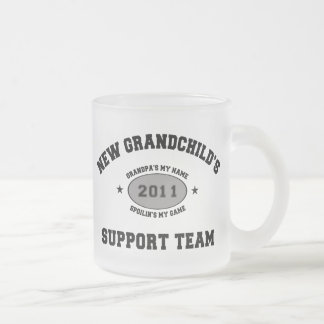 2011 New Grandchild Frosted Glass Coffee Mug