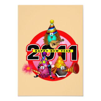 2011 - New Year Design 5x7 Paper Invitation Card