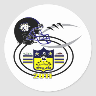 2011 Pardue Bruisermakes SHIELD Classic Round Sticker