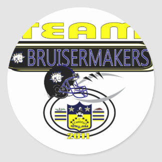 2011 Pardue Bruisermakes SIDELINE Classic Round Sticker