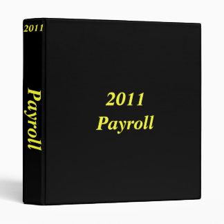 2011 Payroll Binder