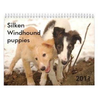 2011 perritos de seda de Windhound Calendarios