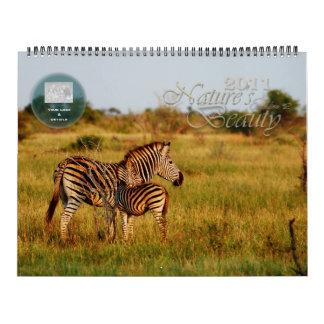 2011 personalizable de la belleza de la naturaleza calendarios de pared