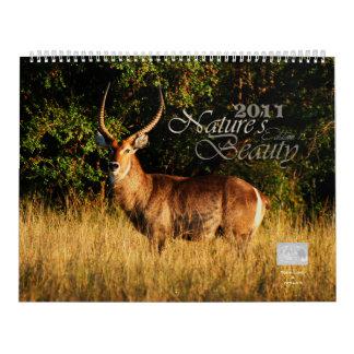 2011 personalizable de la belleza de la naturaleza calendario
