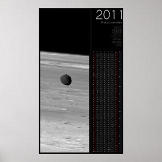 2011 Phobos over Mars Poster