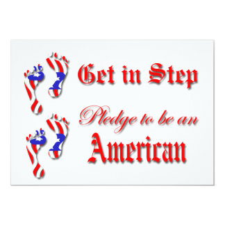 2011 Pledge of Allegiance 5x7 Paper Invitation Card
