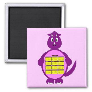 2011 Purple Dinosaur Calendar Magnet