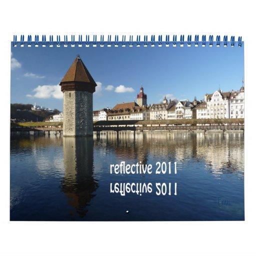 2011 reflexivo calendario de pared