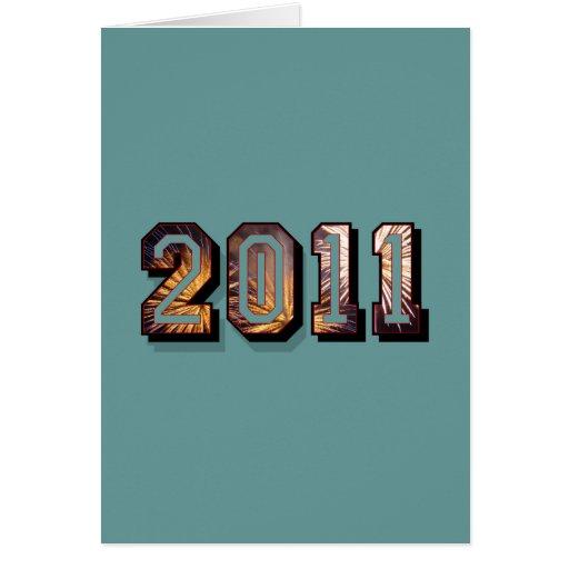 2011 regalos del fiesta de los fuegos artificiales tarjeta