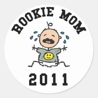 2011 Rookie Mom Classic Round Sticker