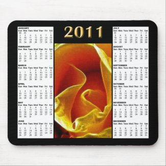 2011 Rose Calendar Mousepad mousepad