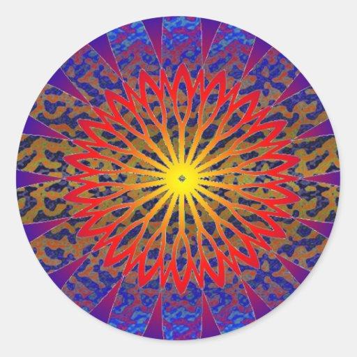 2011 SDC  SUN Dial Chakra Classic Round Sticker