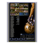 2011 Season Ending Fort Campbell Falcon Poster