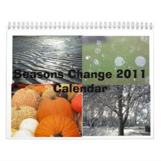 2011 Seasons Change Calendar