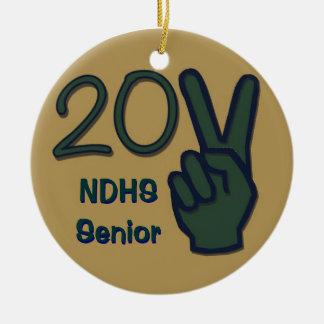 2011 Senior Green, Blue & Gold Ornament