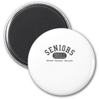 2011 Seniors 2 Inch Round Magnet
