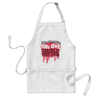 2011 Seniors One One Double the Fun Adult Apron