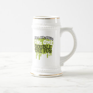 2011 Seniors One One Double the Fun Beer Stein