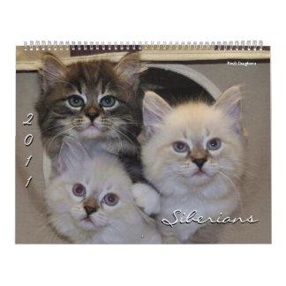 2011 Siberians Cats Kittens Calendar