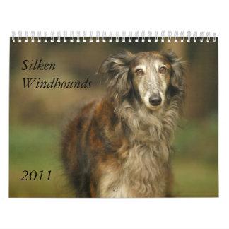 2011 Silken Windhounds 2011 (adults) customize 2 Wall Calendar