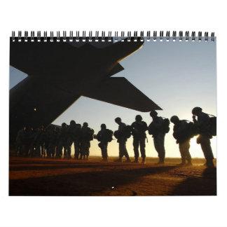 2011 siluetas militares calendarios de pared