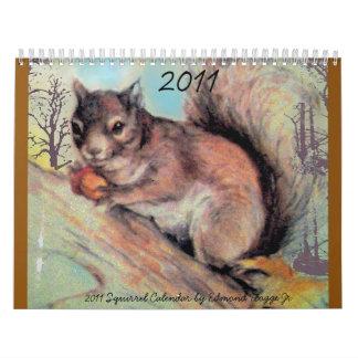 2011 Squirrel Calendar
