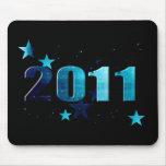 2011 stars blue logo mousepads
