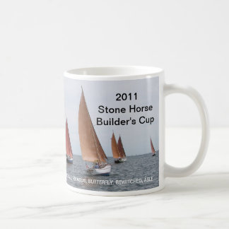 2011 Stone Horse Builder's Cup Classic White Coffee Mug
