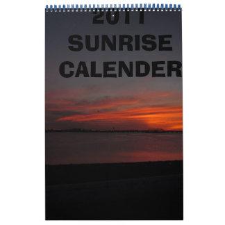 2011 SUNRISE CALENDER CALENDAR