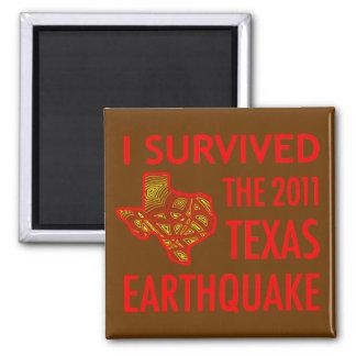 2011 Texas Earthquake 2 Inch Square Magnet