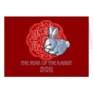 2011 The Year of the Rabbit Gifts Greeting Card