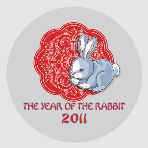 2011 The Year of the Rabbit Gifts Round Stickers