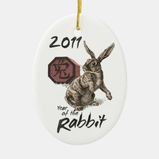2011: The Year of the Rabbit Oval Ornament
