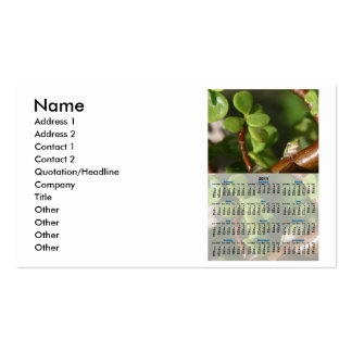 2011 Tree Frog Whole Year Calendar Business Cards