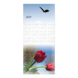 2011 tulip garden Bookmark Rack Card